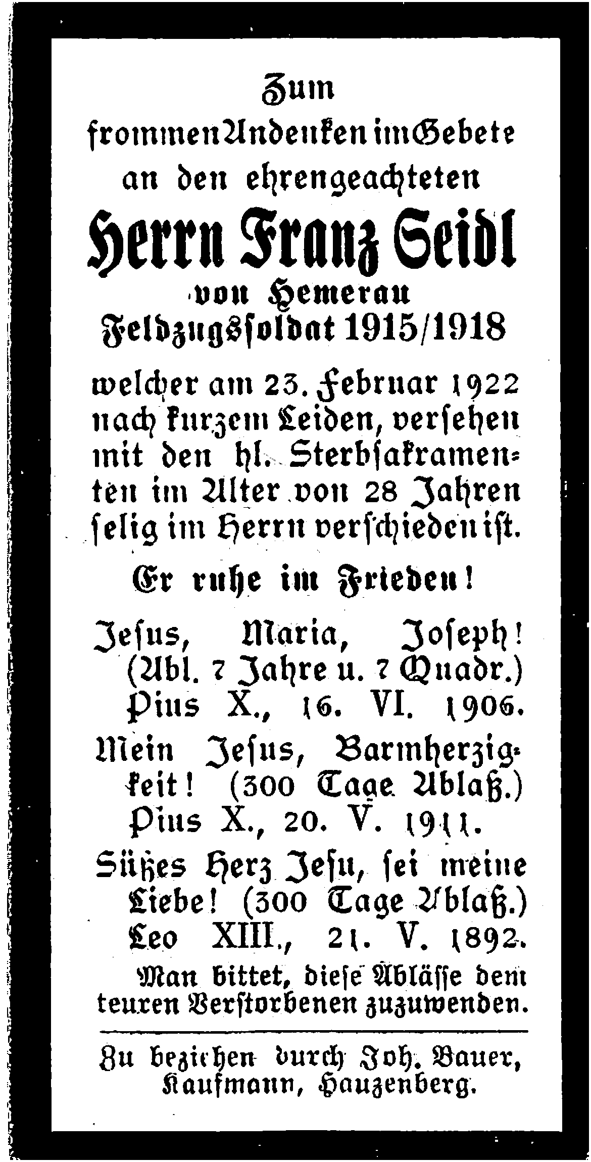 1922-02-23-Seidl-Franz-Hemerau-Gründungsmitglied-Feldzugsoldat