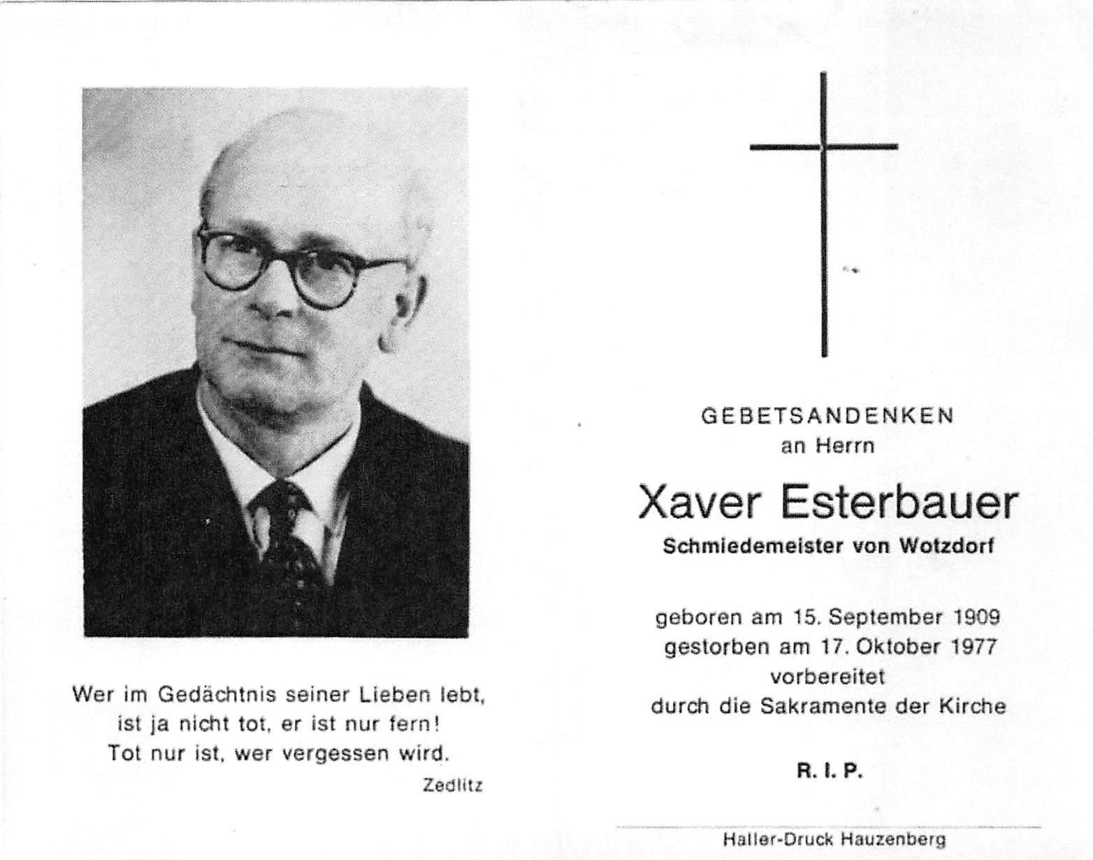 1977-10-17-Esterbauer-Xaver-Wotzdorf-Schmiedemeister