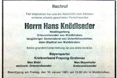 1981-01-13-Knödlseder-Hans-Neidlingerberg-Landwirt-Nachruf