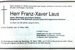 1985-03-13-Laus-Franz-Xaver-Gießübl-Steinmetz